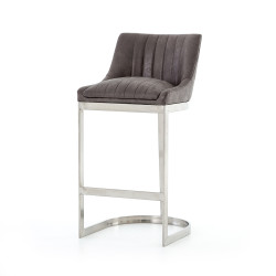 Four Hands Rory Bar Stool - Vintage Graphite