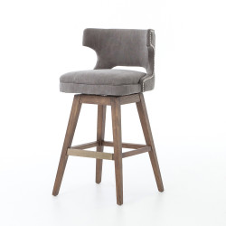Four Hands Task Swivel Bar Stool - Dark Moon Canvas