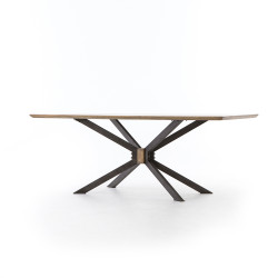 "Four Hands Spider Dining Table - 79"" - Sandy Oak"