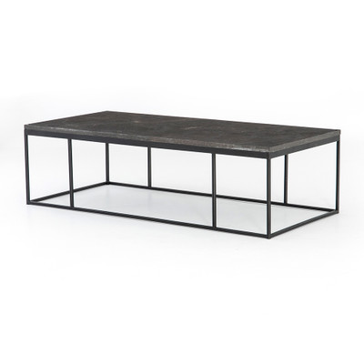 Four Hands Harlow Small Coffee Table - Bluestone