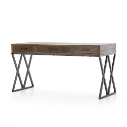 Four Hands Sampson Desk - Light Grey Oak