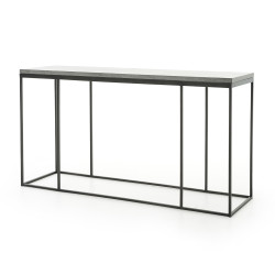 Four Hands Harlow Console Table - Bluestone/Gunmetal