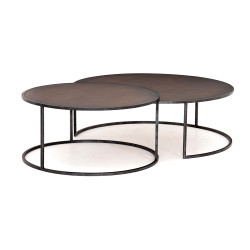 Four Hands Catalina Nesting Coffee Table - Copper Cla