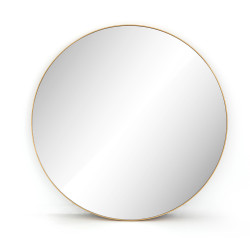 Four Hands Bellvue Round Mirror - Polished Brass