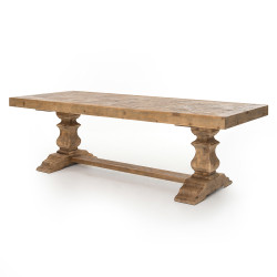"Four Hands Castle 98"" Dining Table - Bleached Pine"