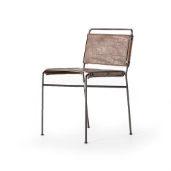 Four Hands Wharton Dining Chair - Distressed Brown