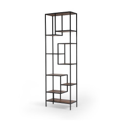"Four Hands Helena Bookshelf - 102"" - Antique Bleach Sea"
