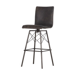 Four Hands Diaw Bar Stool - Rialto Ebony