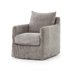 Four Hands Banks Swivel Chair - Stonewash Heavy Jute