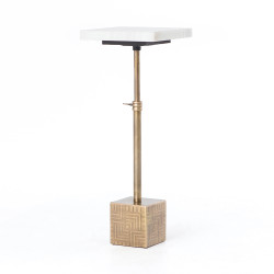 Four Hands Sirius Adjustable Accent Table - Brass