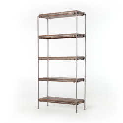 Four Hands Simien Bookshelf - Gunmetal