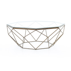 Four Hands Geometric Coffee Table - Antique Brass