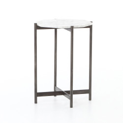 Four Hands Adair Side Table - Hammered Grey