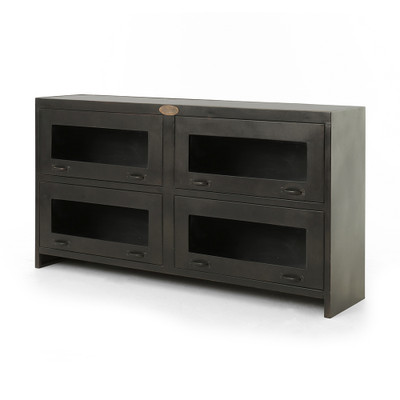 Four Hands Rockwell Media Cabinet - Antique Iron