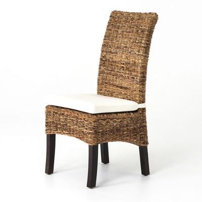 Four Hands Banana Leaf Chair W/Cushion - Natural