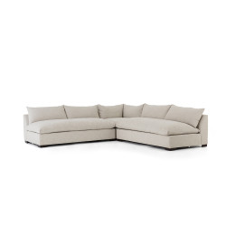 Four Hands Grant 3 - Pc Sectional - Ashby Oatmeal