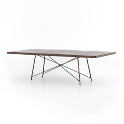 Four Hands Rocky Dining Table - Bronzed Iron