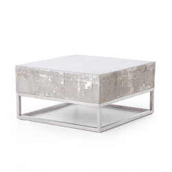 Four Hands Concrete And Chrome Coffee Table