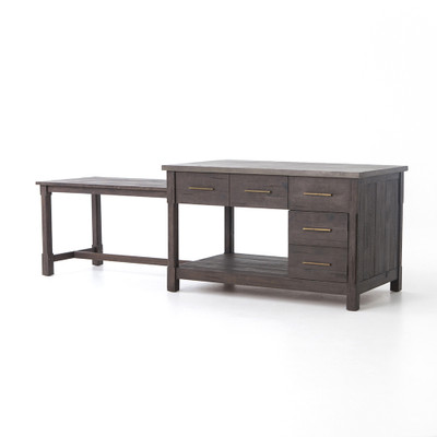 Four Hands Ian Kitchen Island - Rubbed Black