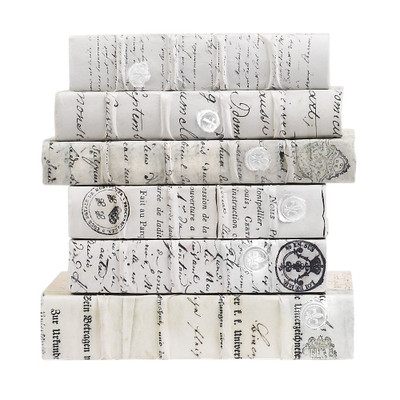 E Lawrence Antiqued Scripted Parchment With White Wax Seals