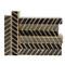 E Lawrence Black And Gray Chevron/Herringbone Vertical Batik