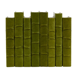 E Lawrence Dark Olive Parchment Bound Books
