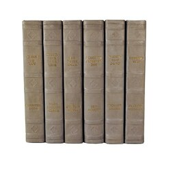 E Lawrence English Fine Leatherbound Books - Light Gray