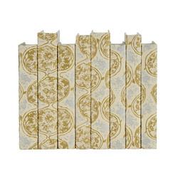E Lawrence Gold And Silver Silksrcreen Globular Pattern