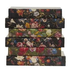 E Lawrence Flemish Florals On Dark Background