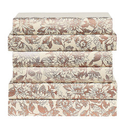 E Lawrence Floral Pattern Painted In Rose Gold