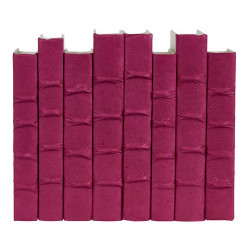 E Lawrence Magenta Parchment Bound Books