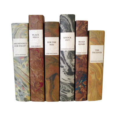 E Lawrence Marbled Paper Title Author