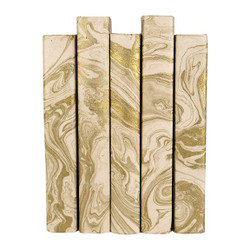 E Lawrence Marbled Metallic Gold