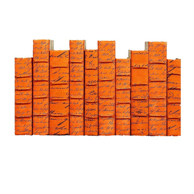 E Lawrence Scripted Parchment Orange - Large