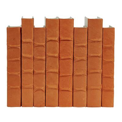 E Lawrence Orange Parchment Bound Books