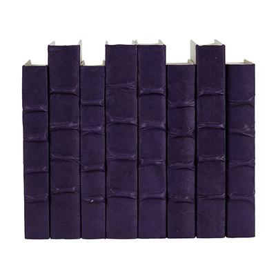 E Lawrence Purple Parchment Bound Books