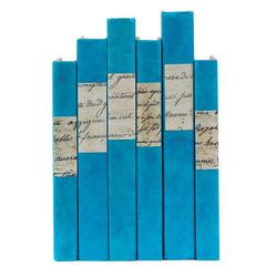 E Lawrence Script Labels - Turquoise