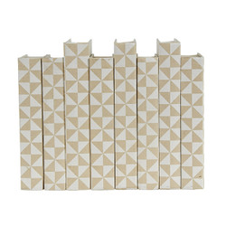 E Lawrence White Geometric Pattern On Cream Background