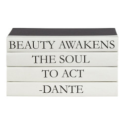 "E Lawrence 4 Vol. Quote Stack ""Beauty Awakens..."""