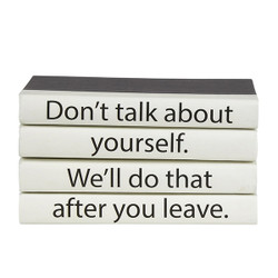 """E Lawrence 4 Vol. Quote Stack """"Don'T Talk About Yourself..."""""""