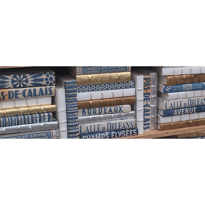 E Lawrence Blue Mix With Metallic - Set Of 20
