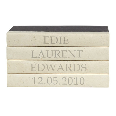 E Lawrence Custom Birthday Announcement - 4 Vol. Stack