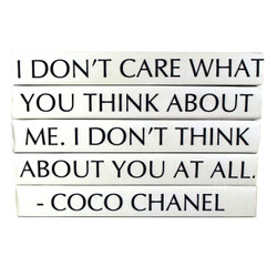 "E Lawrence Quotation Series: Coco Chanel ""I Don'T Care What You Think..."" 5 Volume Stack"