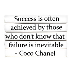 "E Lawrence Quotation Series: Coco Chanel ""Success Is Often..."" 5 Volume Stack"