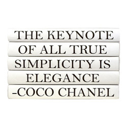 "E Lawrence Quotation Series: Coco Chanel ""The Keynote Of All..."" 5 Volume Stack"