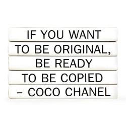 "E Lawrence Quotation Series: Coco Chanel ""If You Want To Be..."" 5 Volume Stack"