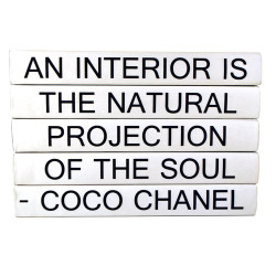 "E Lawrence Quotation Series: Coco ""An Interior Is..."" 5 Volume Stack"