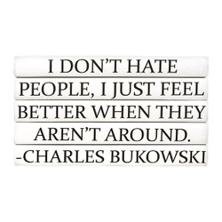 "E Lawrence Quotations Series: Charles Bukowski ""I Don'T Hate People..."" 5 Vol."