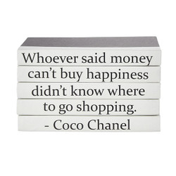 "E Lawrence Quotations Series: Coco Chanel ""...Money Can'T Buy Happiness"""