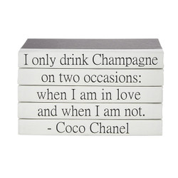 "E Lawrence Quotations Series: Coco Chanel ""Champagne"""